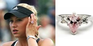 Prabangus sužadėtuvių žiedas su kriaušės formos deimantu priklausantis tenisininkei Anai Kurnikovai