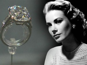 Grace Kely (Grace Kelly) žiedas su 10,47ct deimantu.