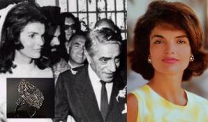 Jacqueline Onassis prabangus sužadėtuvių žiedas su 40,42ct deimantu.