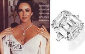 Elizabeth Taylor sužadėtuvių žiedas su 33,19ct deimantu.