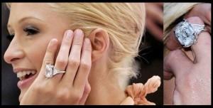 Paris Hilton sužadėtuvių žiedas  su 24,00ct deimantu.