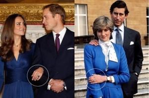 Kembridžo hercogienė Kate Midelton sužadėtuvių žiedas